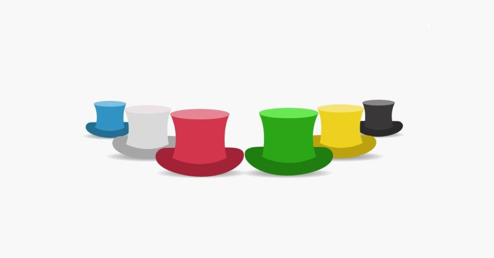 """Conheça a técnica """"6 chapéus do pensamento"""""""